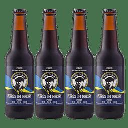 """Liquidación #04 - 4x Cerveza Tropera Porter Perros del Mackay 330cc"""