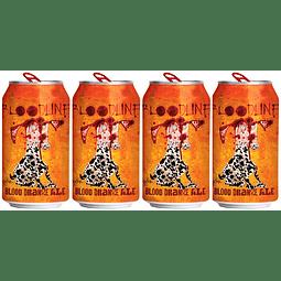 4x Flying Dog Bloodline Orange Ale lata 355cc
