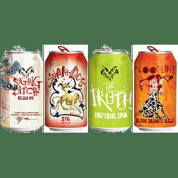 """Pack Festival BeerSquare - 4x! Cerveza Flying Dog Hoppy Pack"""