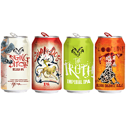 4x! Cerveza Flying Dog Hoppy Pack
