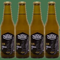 4x Cerveza Bundor Elfa Blonde botella 330cc