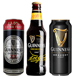 """""""Aguante Marzo - 3x Cerveza Guinness Variedades """"Luxury Pack"""""""