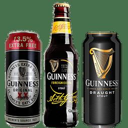 "3x Cerveza Guinness Variedades ""Luxury Pack"""