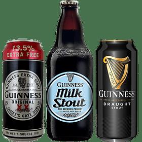 "3x Cerveza Guinness Pack Variedades y ""Milk Stout"""