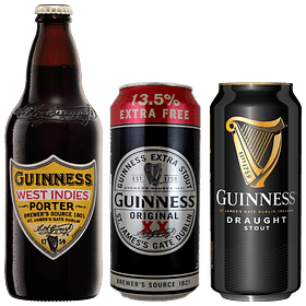 "3x Cerveza Guinness Pack Variedades y ""West Indies Porter"""