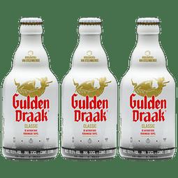 3x Cerveza Gulden Draak Classic botella 330cc