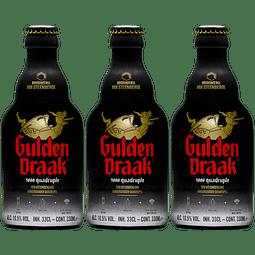 3x Cerveza Gulden Draak 9000 botella 330cc