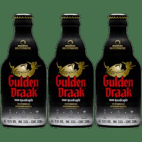 3x Cerveza Gulden Draak 9000 330cc