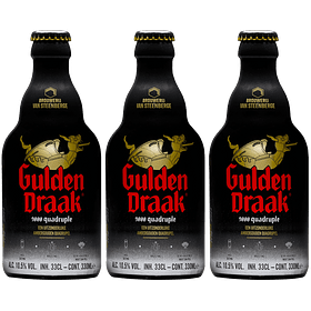3x Gulden Draak Quadruple 9000 botella 330cc