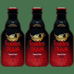 3x! Cerveza Gulden Draak Imperial Stout 330cc