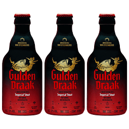 3x Gulden Draak Imperial Stout botella 330cc