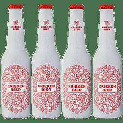"""""""4x Cerveza Belga Fruta Kriekenbier Wheat botella 330cc"""""""