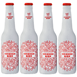 4x Belga Frutal Kriekenbier Wheat botella 330cc