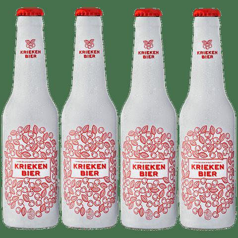 4x Cerveza Belga Fruta Kriekenbier Wheat botella 250cc