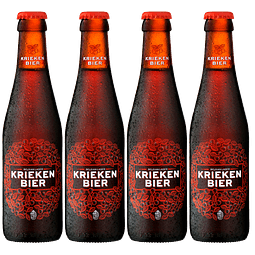 """4x! Cerveza Belga Fruta Kriekenbier Lager botella 250cc"""