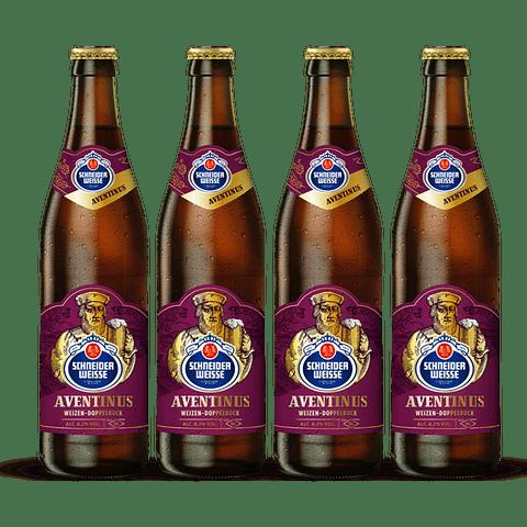 4x Cerveza Schneider Weisse Tap 6 Aventinus 500cc