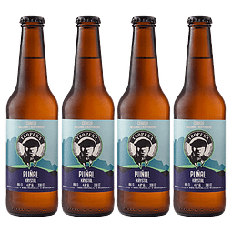 """""""Liquidación #06 - 4x Cerveza Tropera Puñal Krystal 330cc"""""""