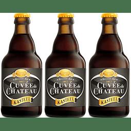 3x Cerveza Kasteel Cuvee du Chateau botella 330cc