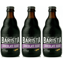 3x Cerveza Kasteel Barista Chocolate Quad botella 330cc
