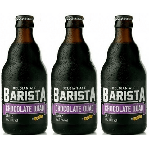 3x Cerveza Kasteel Barista Chocolate Quad botella 330cc