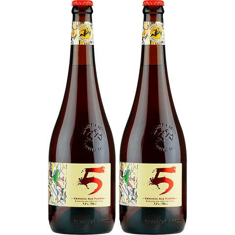 2x Cerveza Kross 5 Aniversario 750cc