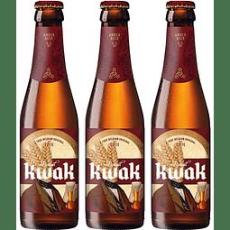 3x Cerveza Belga Kwak 330cc