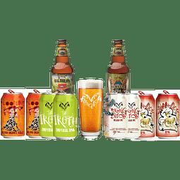 """10x Cervezas IPA EEUU + Vaso Regalo """"Dame tus Lúpulos"""""""