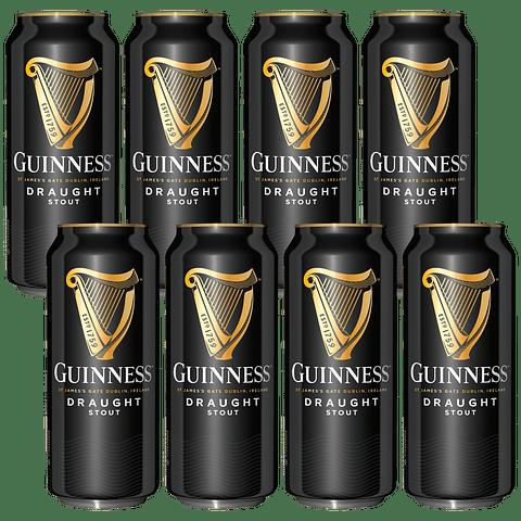 """Big Pack"" 8x! Guinness Draught 440cc (precio unidad $2.499)"