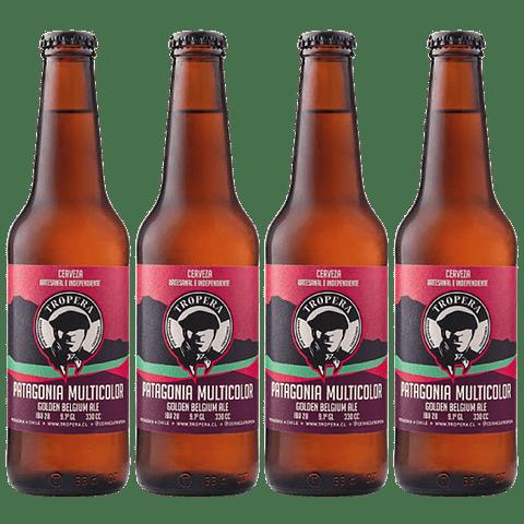 """""""Especial Chilenas"""" 4x! Cerveza Tropera Patagonia Multicolor 330cc"""