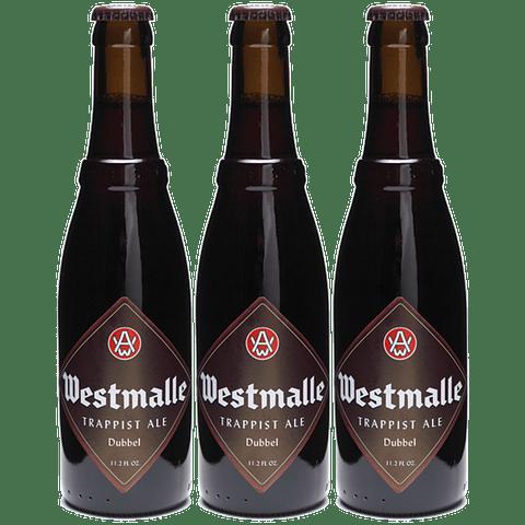 3x! Cerveza Trapense Westmalle Dubbel 330cc