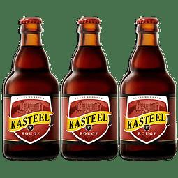 3x! Cerveza Kasteel Rouge 330cc