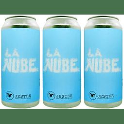 """3x! Cerveza Jester """"La Nube"""" lata 473cc"""""""