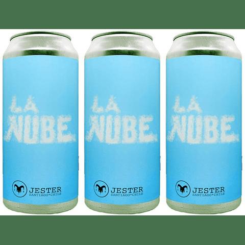 """3x! Cerveza Jester """"La Nube"""" lata 473cc"""