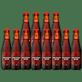 """12x Cerveza Belga Fruta Kriekenbier Lager 250cc"""