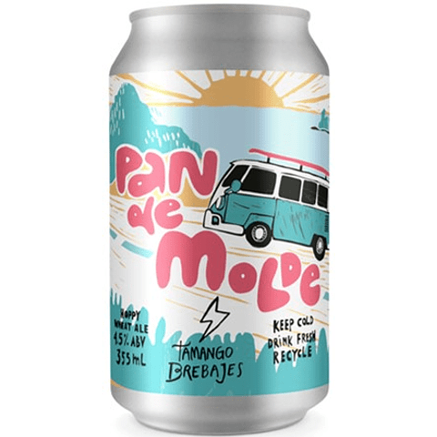 "Cerveza Tamango ""Pan de Molde Hoppy Wheat Ale"" 355cc"