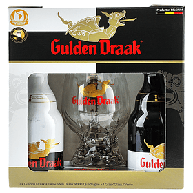 Pack Regalo Cerveza Gulden Draak 2 botellas 330cc + Copa