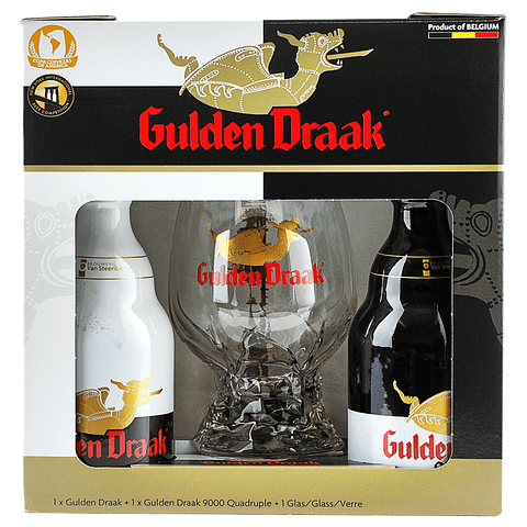 Pack Regalo Gulden Draak Copa + 2 botellas 330cc