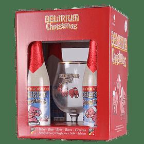 """Pack Regalo Cerveza """"Delirium Christmas"""" 4x330cc + Copa"""