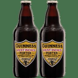 """2x Cerveza Guinness """"West Indies Porter"""" 500cc"""