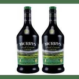 2x Merrys Licor de Crema Irlandesa Original 700cc