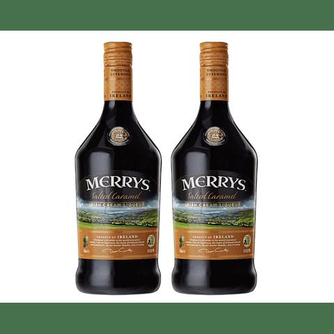 2x Merrys Licor de Crema Irlandesa Salted Caramel 700cc