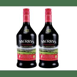 2x Merrys Licor de Crema Irlandesa Strawberry 700cc