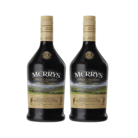 "2x Merrys Licor de Crema Irlandesa ""White Chocolate"" 700cc"