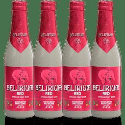 ¡Volvieron los Belgas! 4x Delirium Red botella 330cc