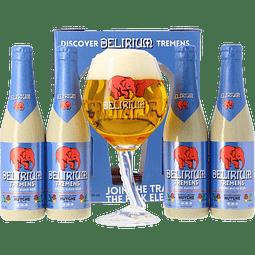 """Pack Regalo Cerveza Delirium """"Discover Tremens"""" 4x 330cc + Copa Trompa"""
