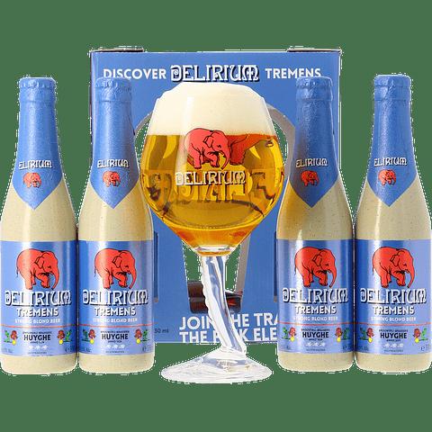 Pack Regalo Discover Tremens Copa Trompa + 4 botellas 330cc