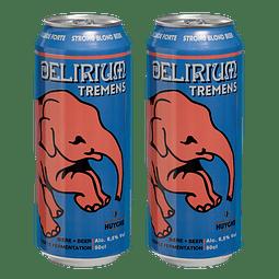 2x Cerveza Delirium Tremens Lata 500cc