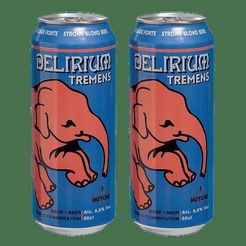 """2x Cerveza Delirium Tremens Lata 500cc"""""""