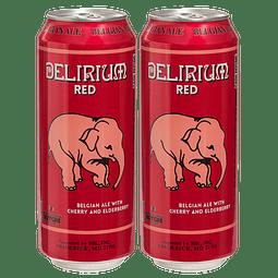 """¡Volvieron los Belgas! 2x Cerveza Delirium Red Lata 500cc"""""""