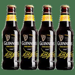 4x Cerveza Guinness Foreign Extra Stout 330cc